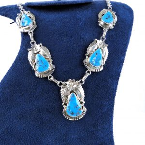 American Indian Turquoise Sterling Silver Necklace