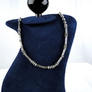 Navajo Sterling Silver Beads Handcrafted Necklace