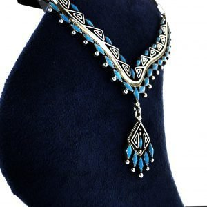 Navajo,Turquoise,Silver,Necklace,By,Billy,Betoney