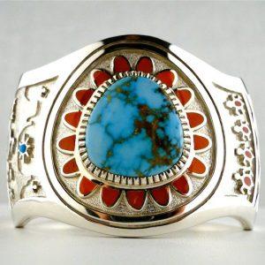 Vernon,Haskie,Turquoise,Cuff,Bracelet,Silver