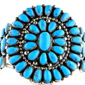 Vintage,Native,American,Lone Mountain,Turquoise,Circa 1930's,1940's,Navajo,Coin,Silver