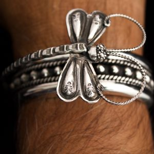 Dragonfly,Sterling,Silver,Cuff,Handcrafted