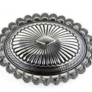 Navajo Ron Bedonie Handcrafted Belt Buckle Sterling Silver Signed Native American Fine Jewelry.jpg