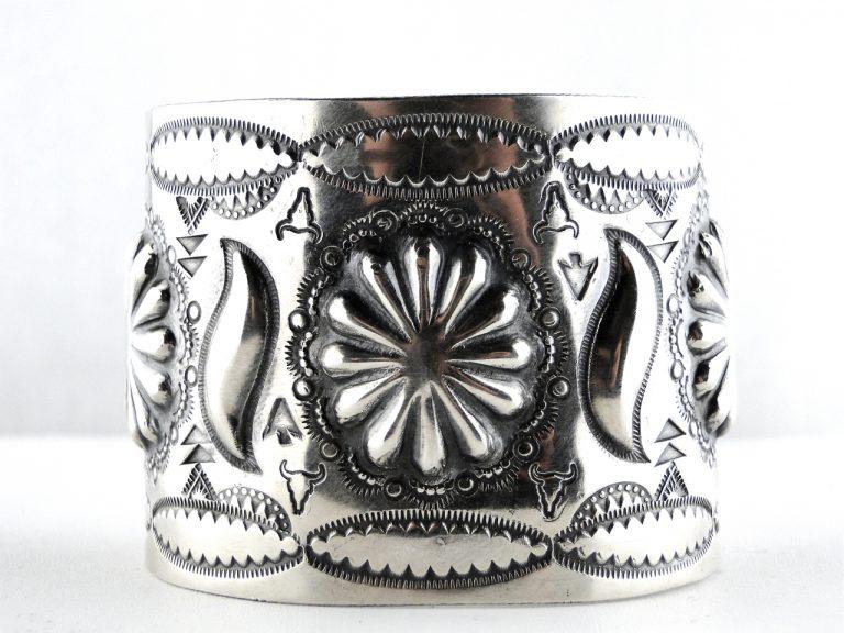 Navajo, Vintage, Handmade, Silver, Native American, Repousse silver