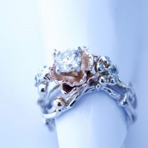 Handmade,Diamond,Engagement,Ring,14k,Gold