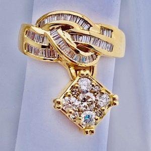 1.50 Ct,Diamond,Cocktail,Ring,14k,Gold