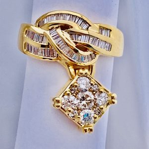 1.50 Ct,Diamond,Cocktail,Ring,14k,Gold