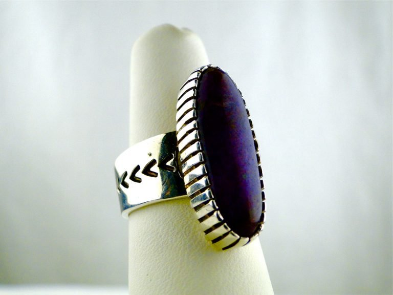 Allison Lee, Sugilite, Oval, Cabochon, Sterling, Silver,Ring