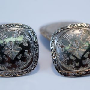 Vintage, Belais, 14K White Gold Front, Art Deco, Double Sided, Cufflinks