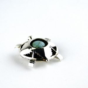 Natural,Turquoise,Sterling,Silver,Pin/ Pendant
