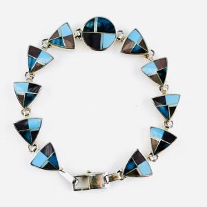 """Ray Tracey,Sterling,Silver,Bracelet, 8"""", Turquoise,Sugilite"""