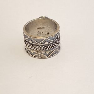 Gary Reeves,Smoke,Bisbee,Turquoise,Sterling,Silver,Ring,Signed