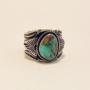 Navajo,Gary Reeves,Bisbee Turquoise,Sterling,Silver,Ring
