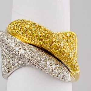 Ricci Gian Pietro Gioielli-2.0-CTW,Natural,White-And,Yellow,Diamond,18k,Two,Tones,Gold